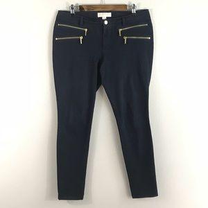 Michael Kors Black Rocker Skinny Jeans 10 EUC
